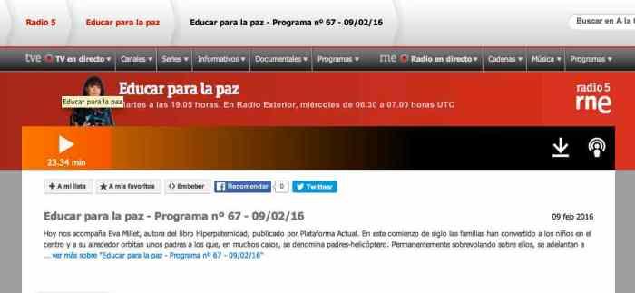 EDUCAR PARA LA PAZ RADIO 5